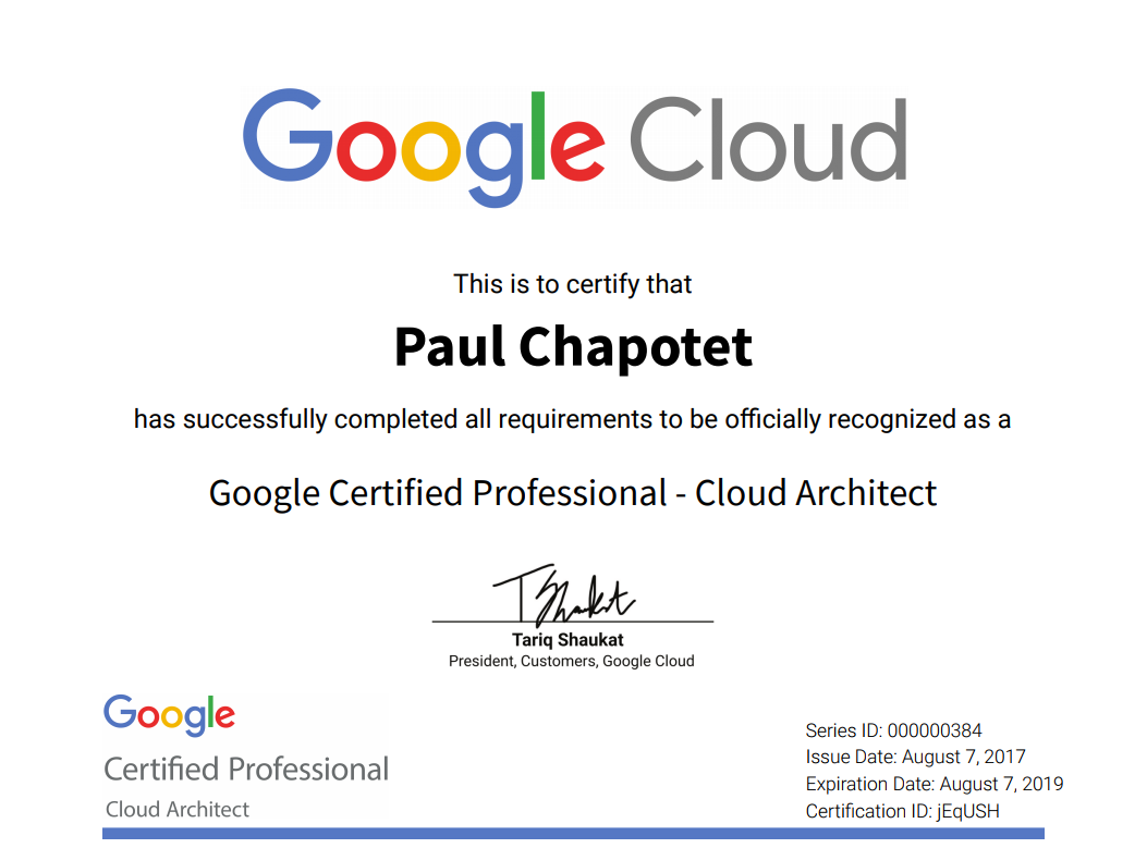 Google Cloud Architect Professional certified! – Blog