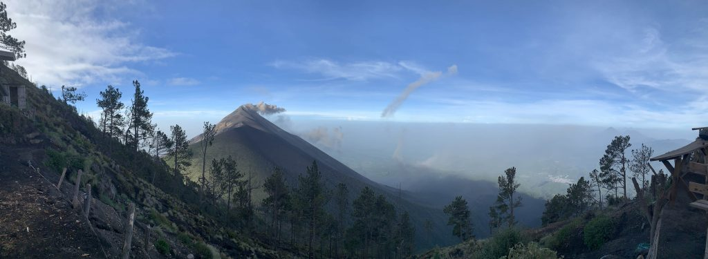 View over Fuego from Acatenango Day